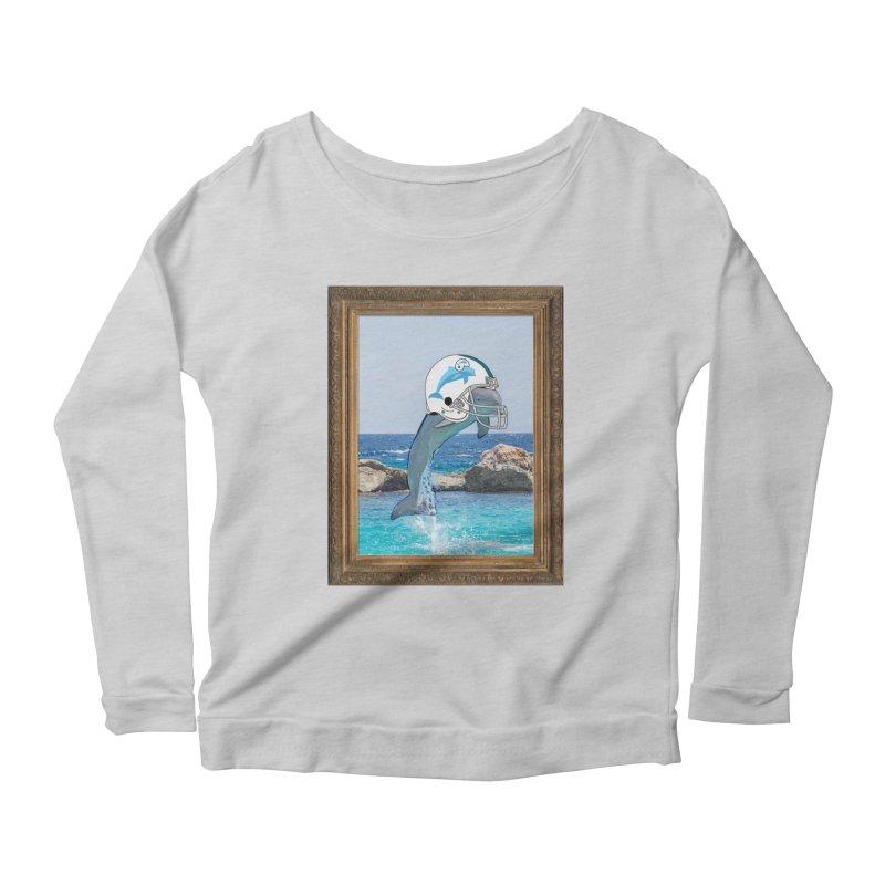 Dolphins Forever Women's Longsleeve Scoopneck  by infinityforever's Artist Shop