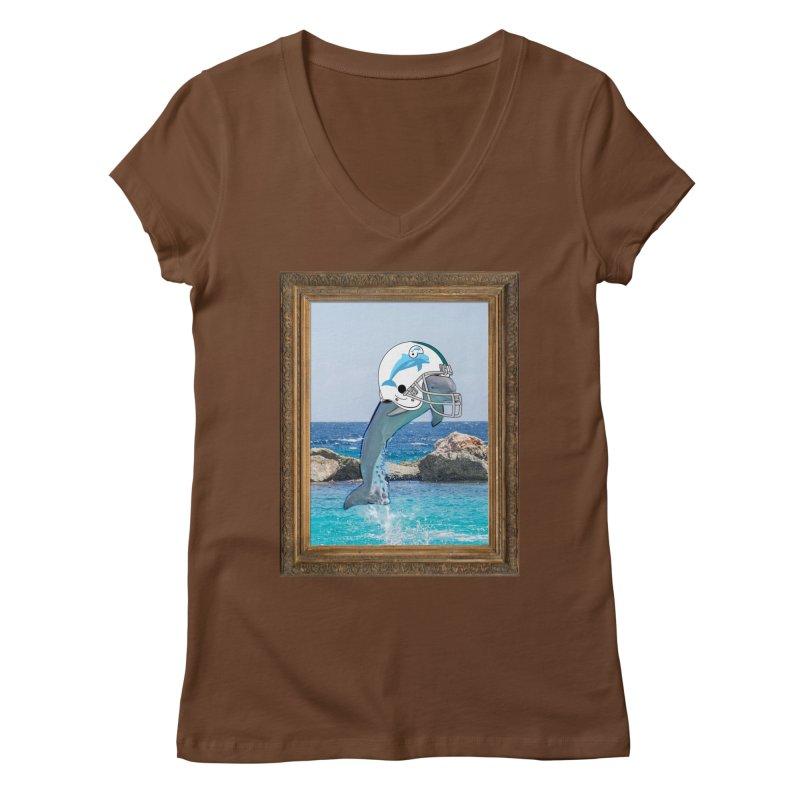 Dolphins Forever Women's V-Neck by infinityforever's Artist Shop