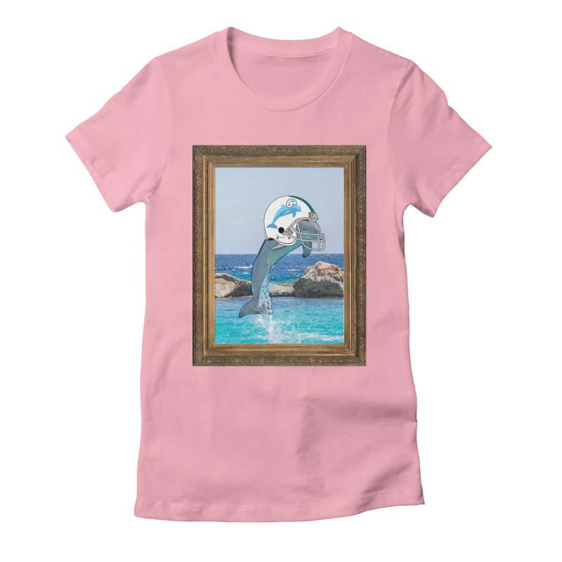 Dolphins Forever Women's Fitted T-Shirt by infinityforever's Artist Shop