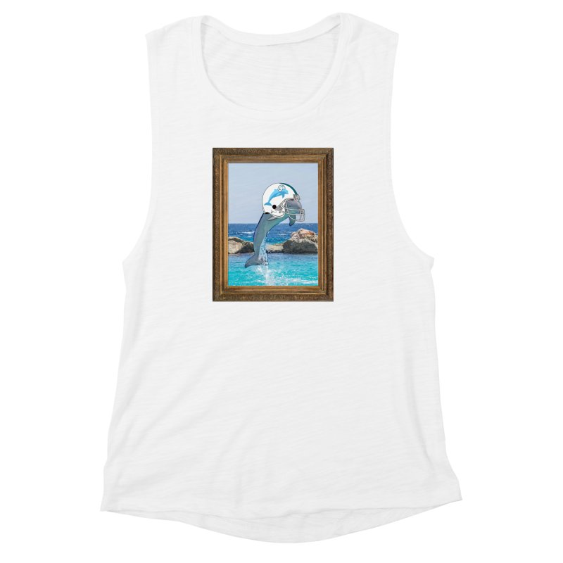 Dolphins Forever Women's Muscle Tank by infinityforever's Artist Shop