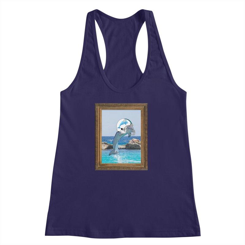 Dolphins Forever Women's Racerback Tank by infinityforever's Artist Shop