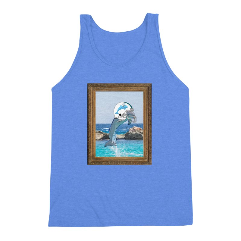 Dolphins Forever Men's Triblend Tank by infinityforever's Artist Shop