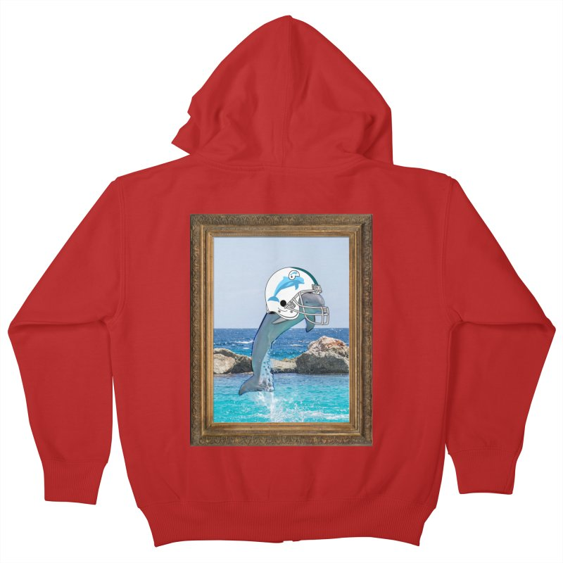 Dolphins Forever Kids Zip-Up Hoody by infinityforever's Artist Shop