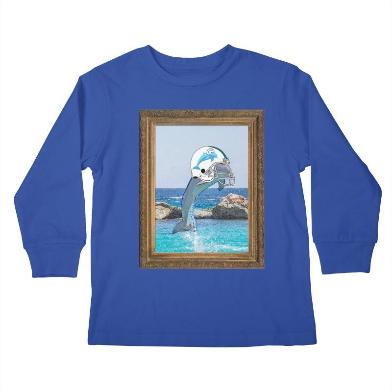Dolphins Forever Kids Longsleeve T-Shirt by infinityforever's Artist Shop
