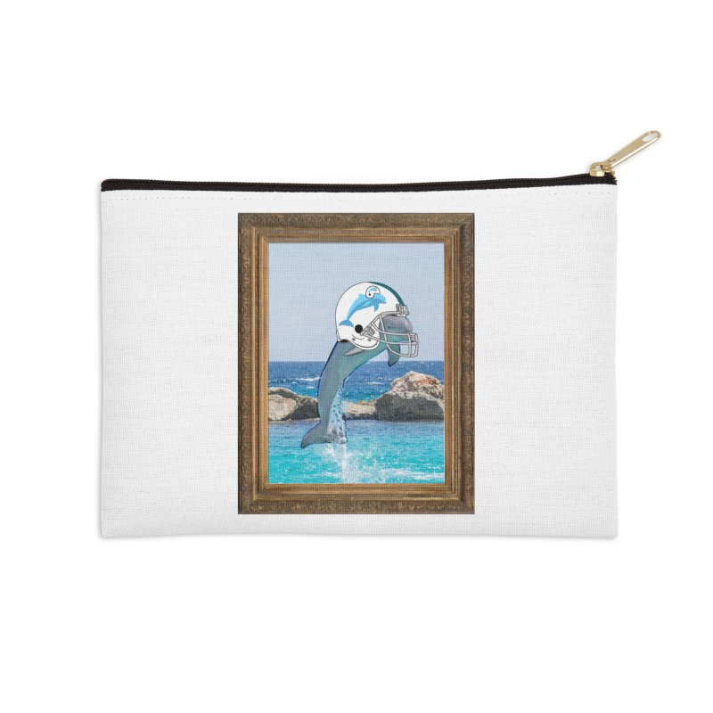 Dolphins Forever Accessories Zip Pouch by infinityforever's Artist Shop
