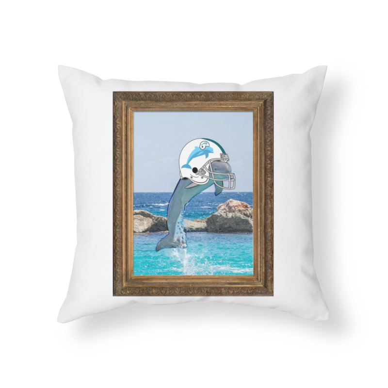 Dolphins Forever Home Throw Pillow by infinityforever's Artist Shop