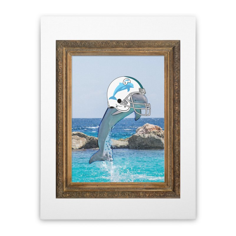 Dolphins Forever Home Stretched Canvas by infinityforever's Artist Shop