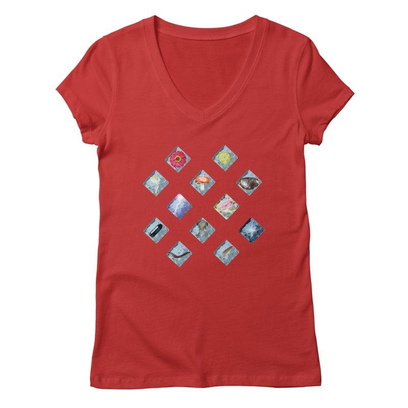 Itemization Women's V-Neck by infinityforever's Artist Shop