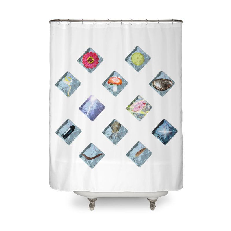 Itemization Home Shower Curtain by infinityforever's Artist Shop