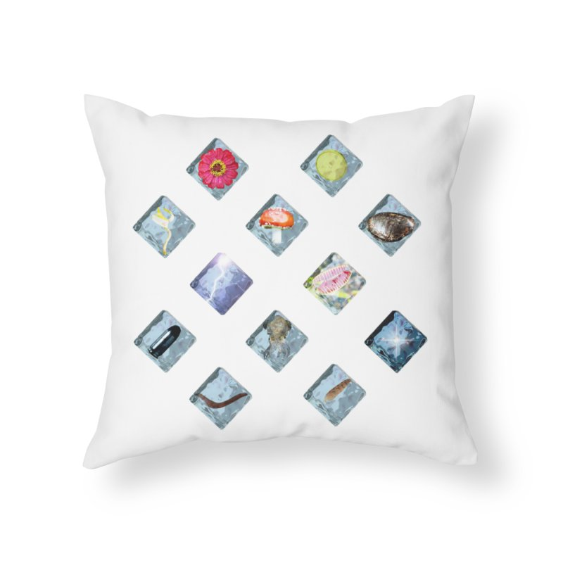 Itemization Home Throw Pillow by infinityforever's Artist Shop