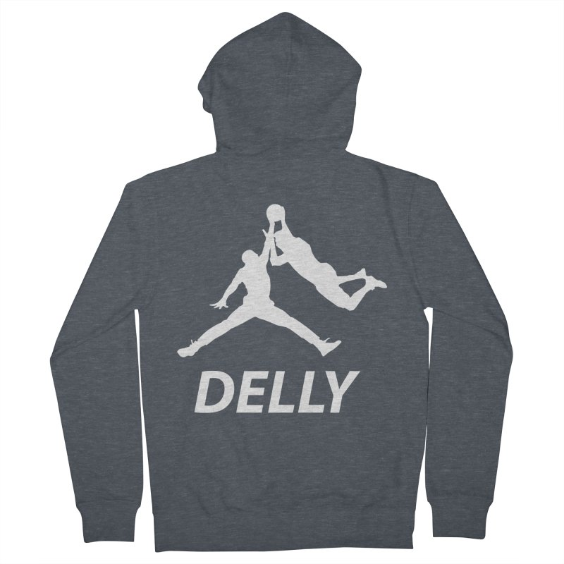 Delly (white logo) Men's Zip-Up Hoody by infinityforever's Artist Shop