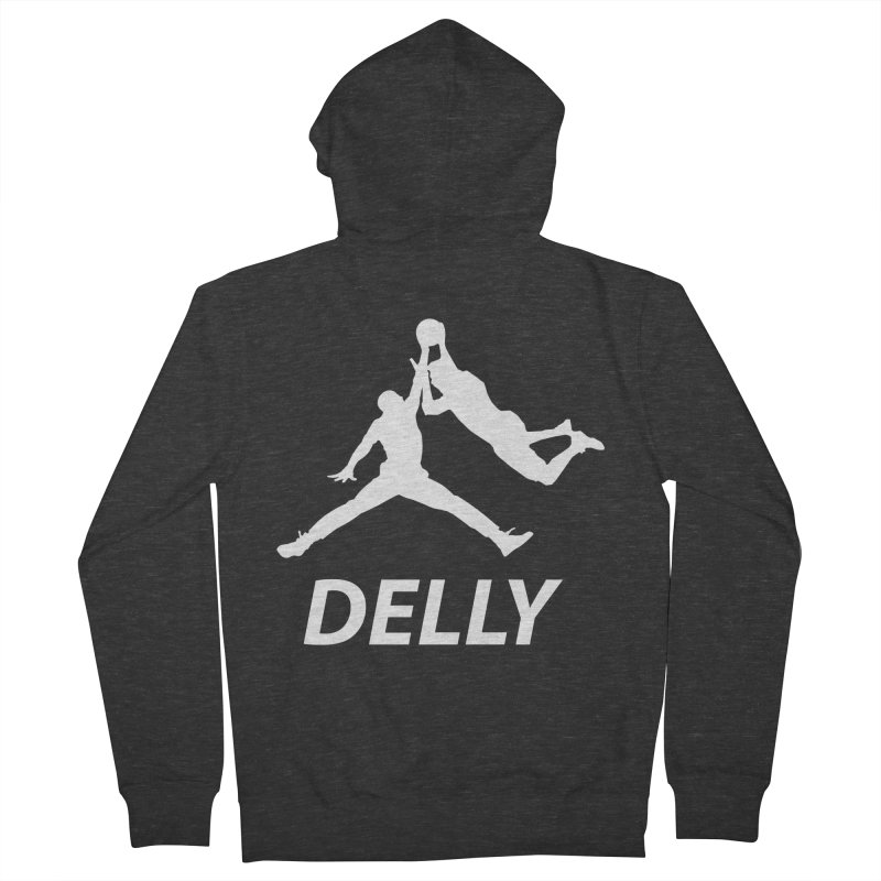 Delly (white logo) Men's Zip-Up Hoody by infinityforever's Artist Shop