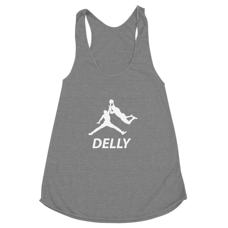 Delly (white logo) Women's Racerback Triblend Tank by infinityforever's Artist Shop