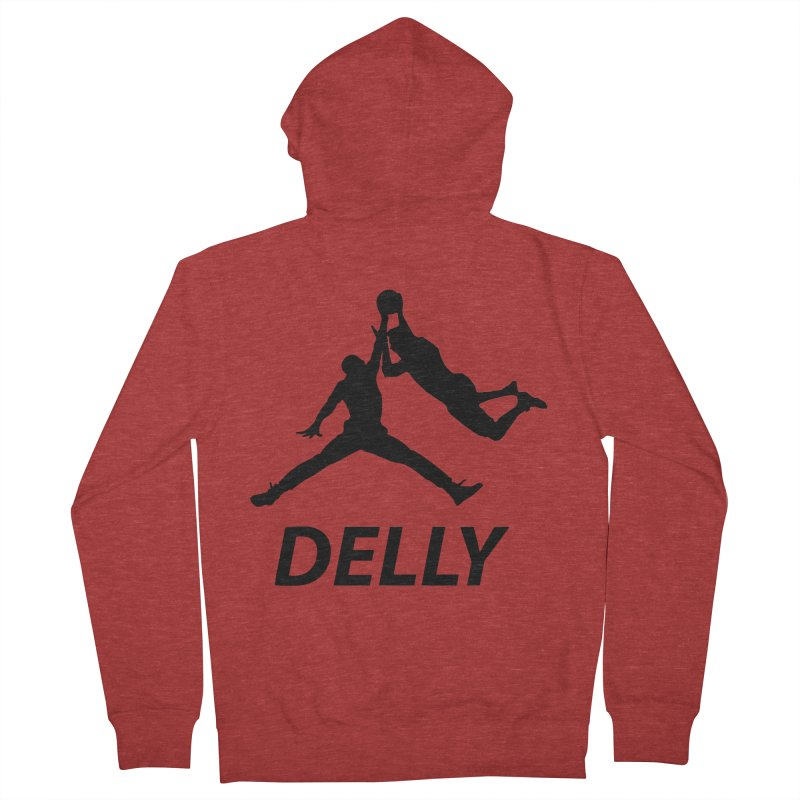 Delly (all black) Men's Zip-Up Hoody by infinityforever's Artist Shop