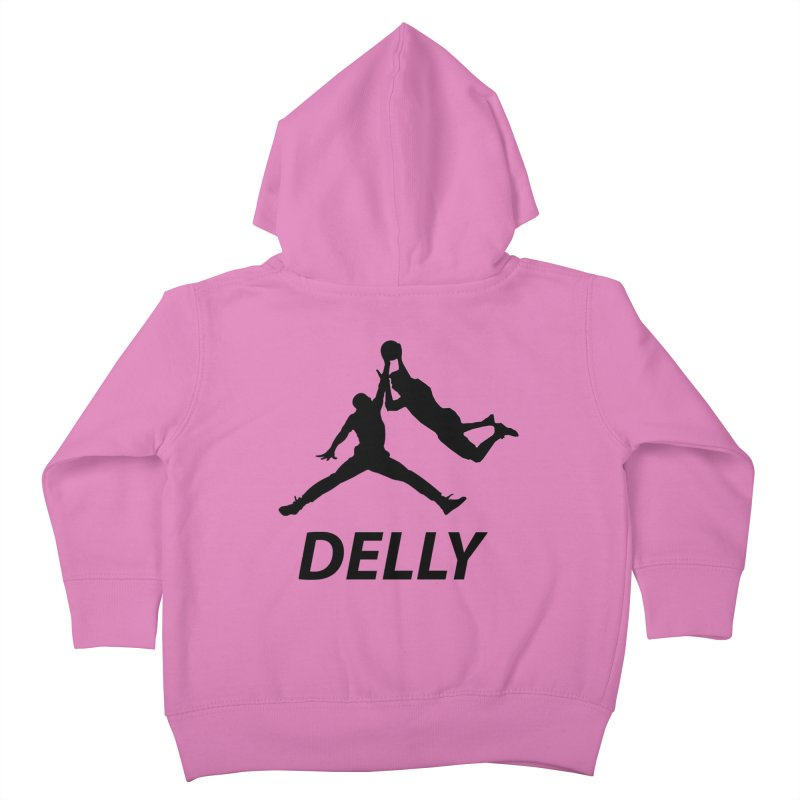 Delly (all black) Kids Toddler Zip-Up Hoody by infinityforever's Artist Shop