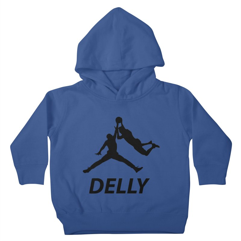 Delly (all black) Kids Toddler Pullover Hoody by infinityforever's Artist Shop
