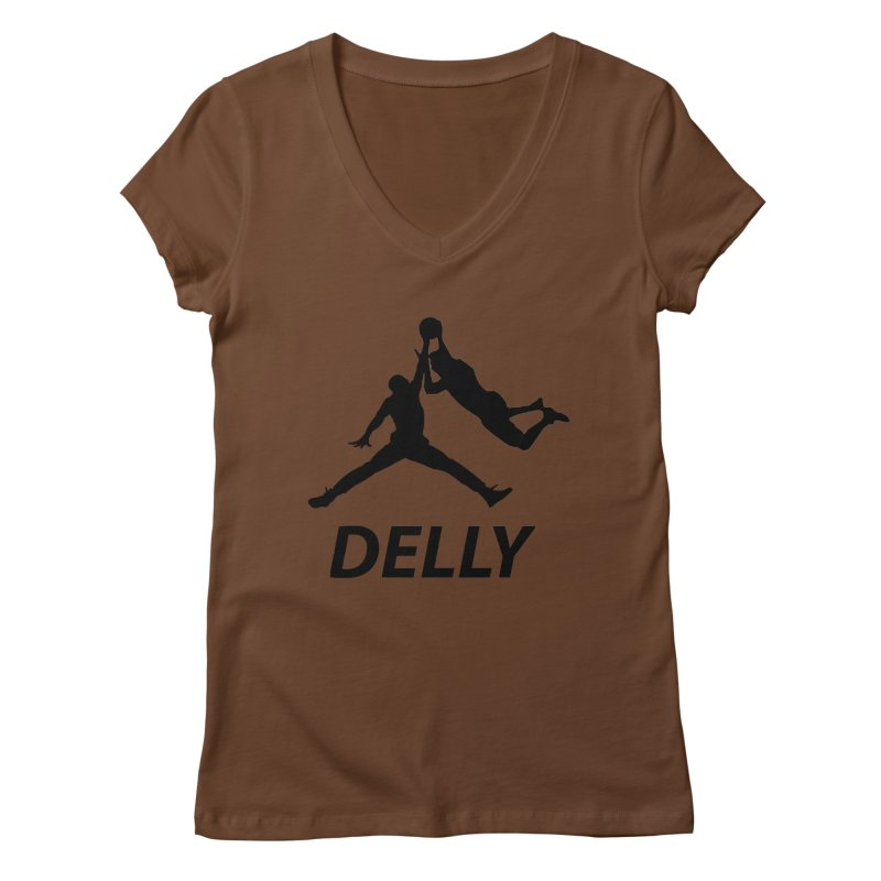 Delly (all black) Women's V-Neck by infinityforever's Artist Shop