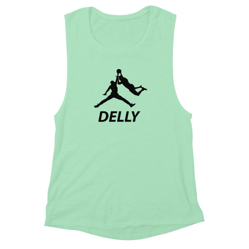 Delly (all black) Women's Muscle Tank by infinityforever's Artist Shop