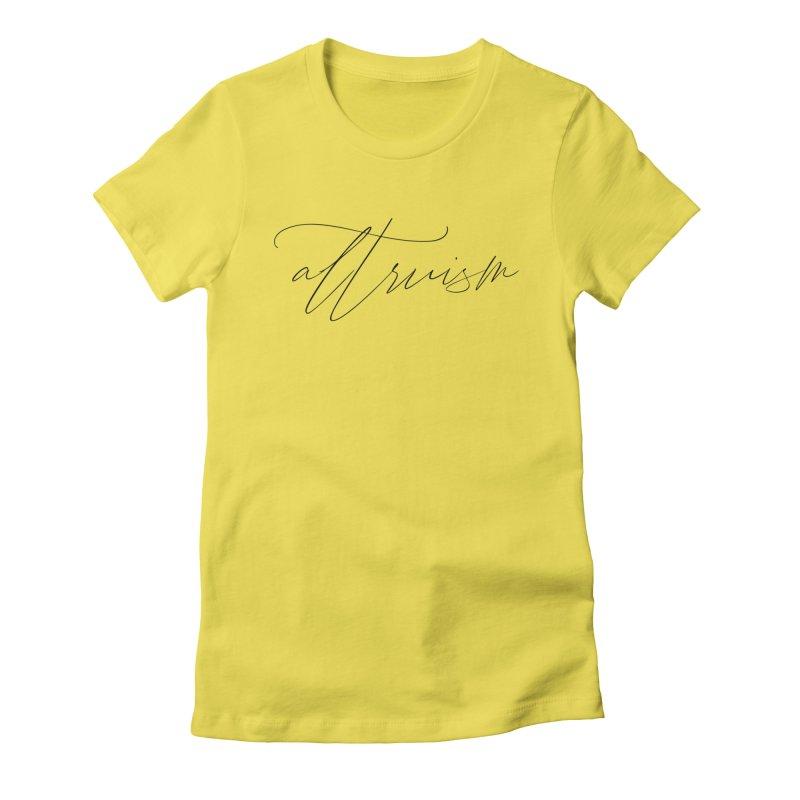 Altruism Women's T-Shirt by Information Machine