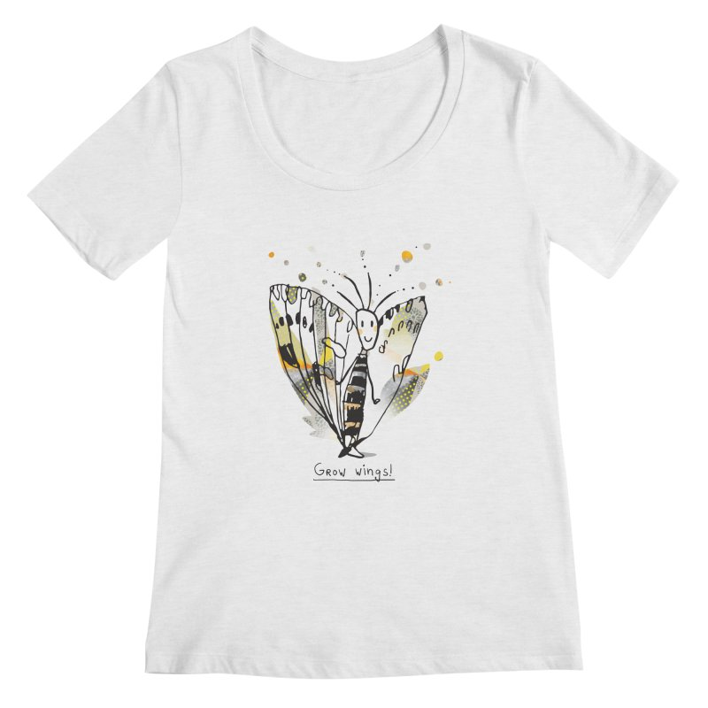 Creative Bug Women's Regular Scoop Neck by Lill Print Store