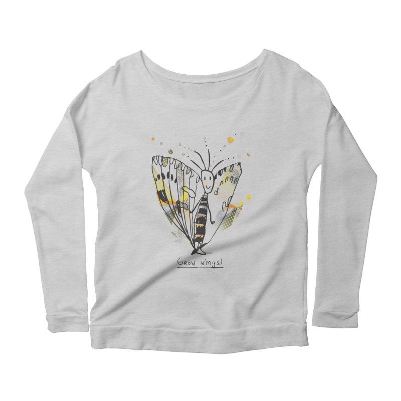 Creative Bug Women's Scoop Neck Longsleeve T-Shirt by Lill Print Store