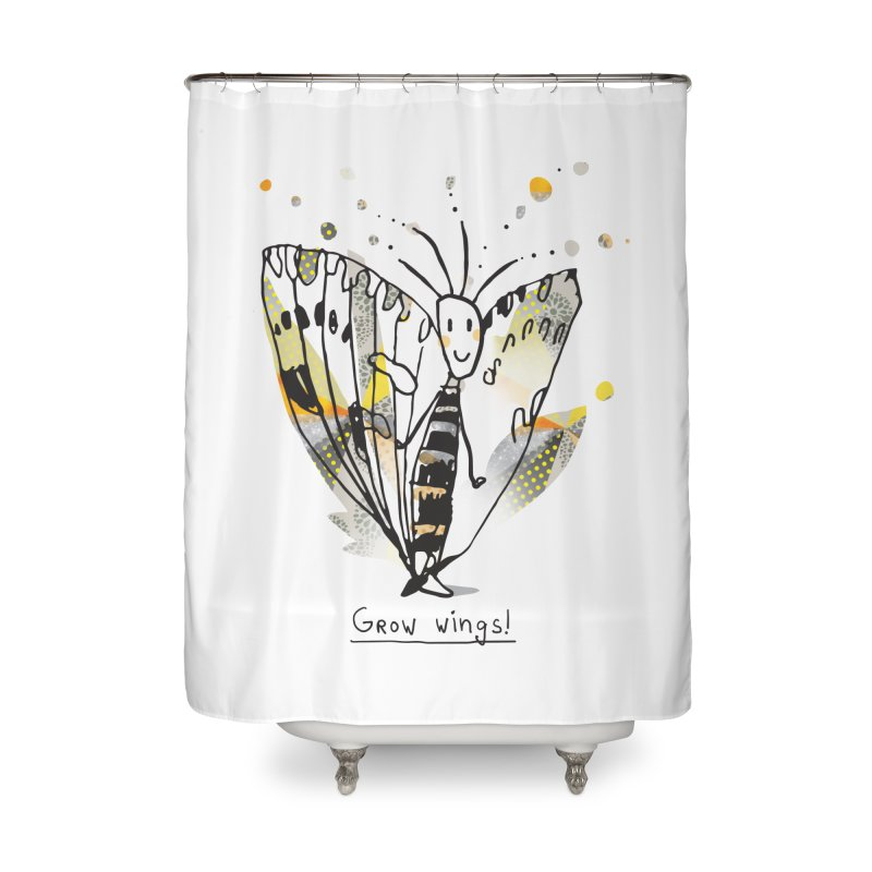 Creative Bug Home Shower Curtain by Lill Print Store