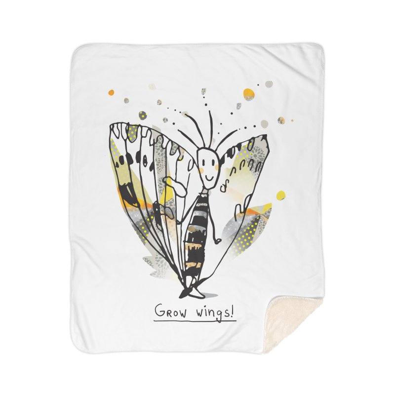 Creative Bug Home Sherpa Blanket Blanket by Lill Print Store