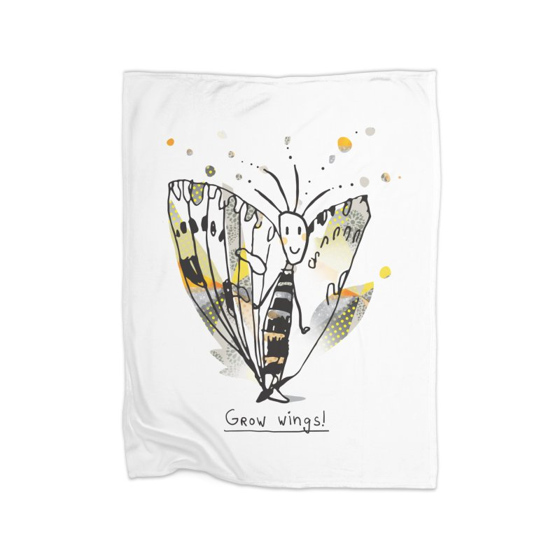 Creative Bug Home Fleece Blanket Blanket by Lill Print Store