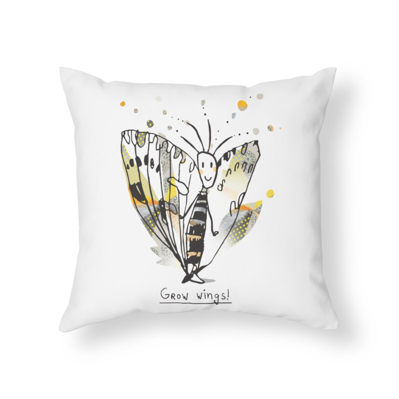 Creative Bug Home Throw Pillow by Lill Print Store