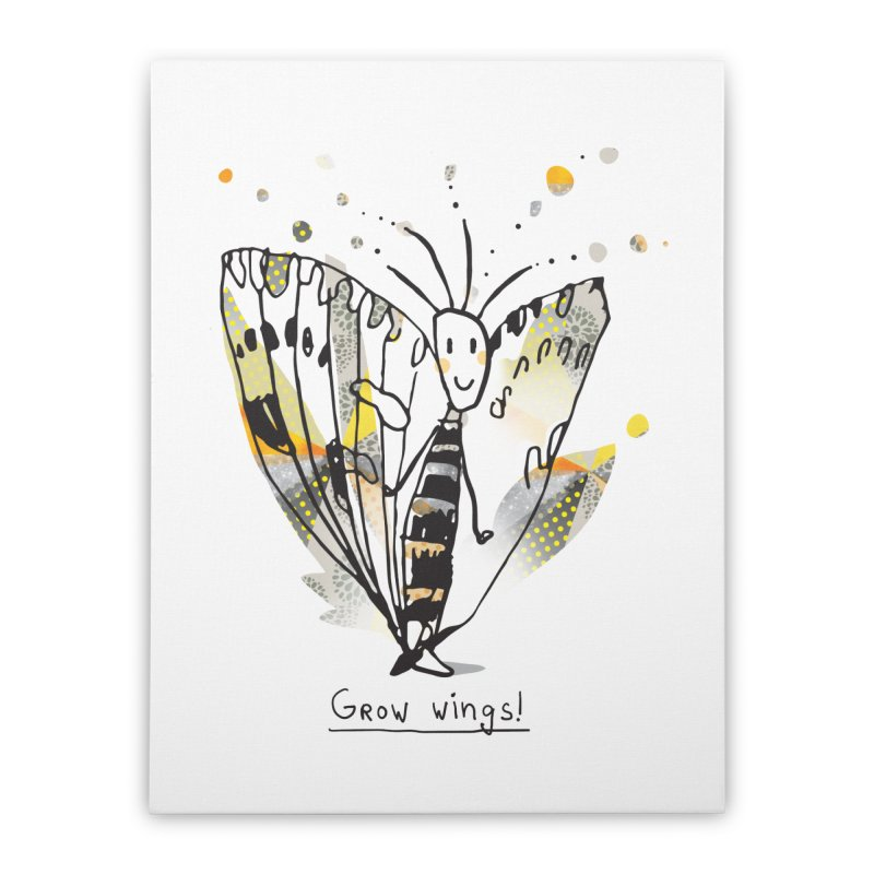 Creative Bug Home Stretched Canvas by Lill Print Store