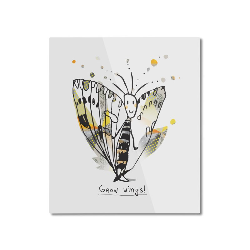 Creative Bug Home Mounted Aluminum Print by Lill Print Store