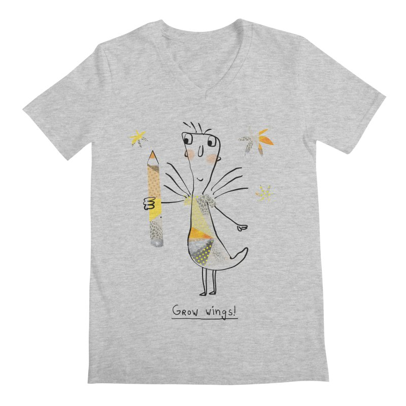 Creative chicken Men's Regular V-Neck by Lill Print Store