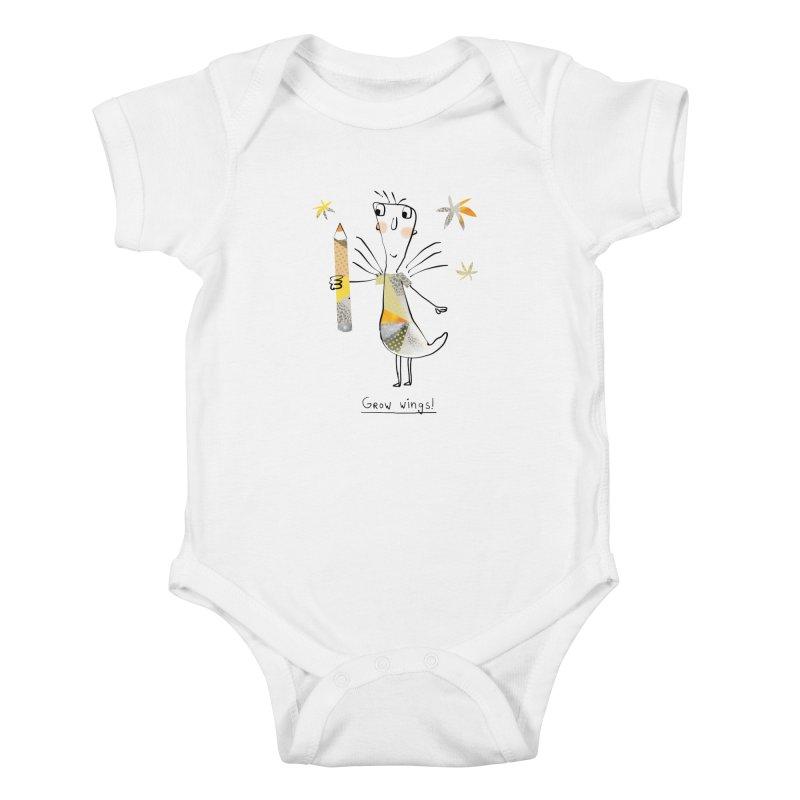 Creative chicken Kids Baby Bodysuit by Lill Print Store