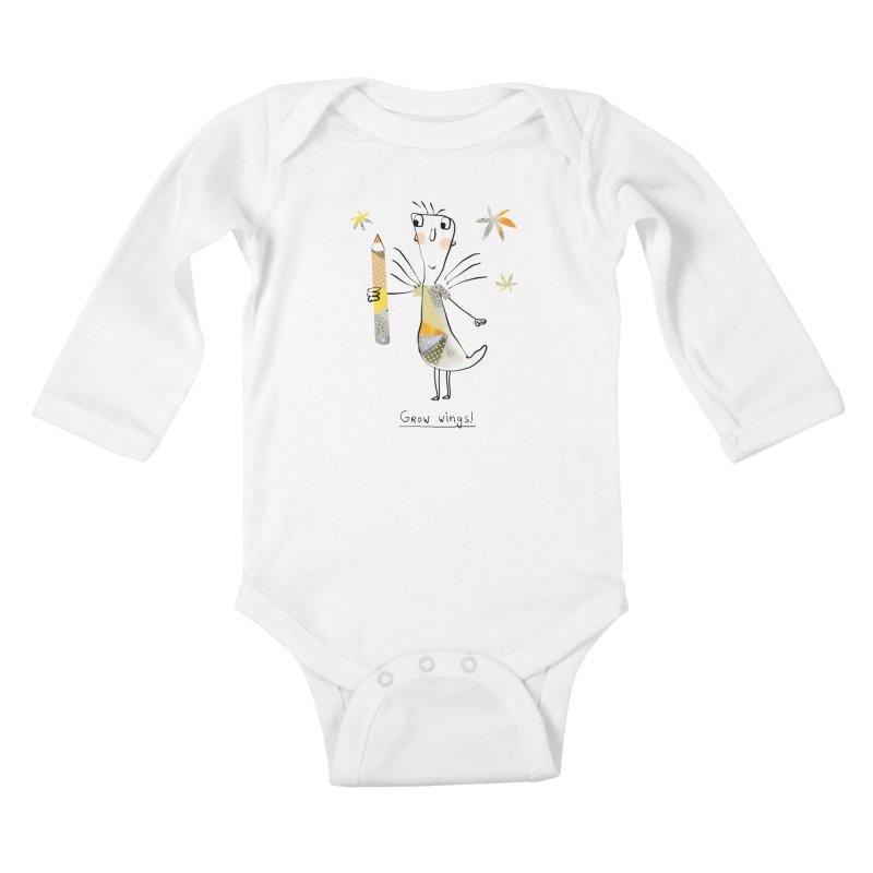 Creative chicken Kids Baby Longsleeve Bodysuit by Lill Print Store