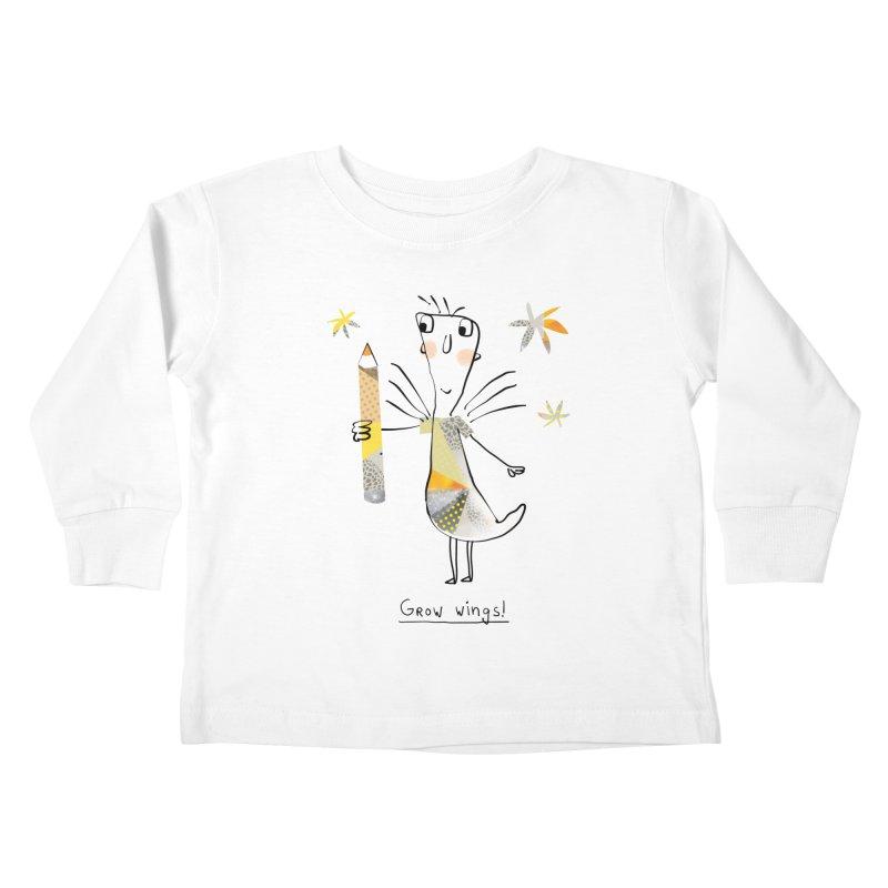 Creative chicken Kids Toddler Longsleeve T-Shirt by Lill Print Store