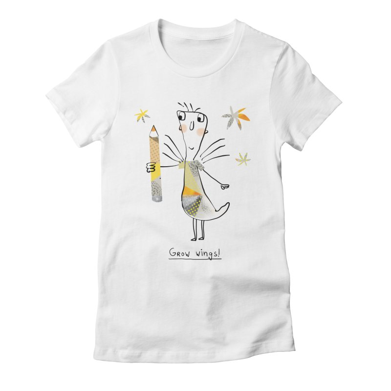 Creative chicken Women's Fitted T-Shirt by Lill Print Store