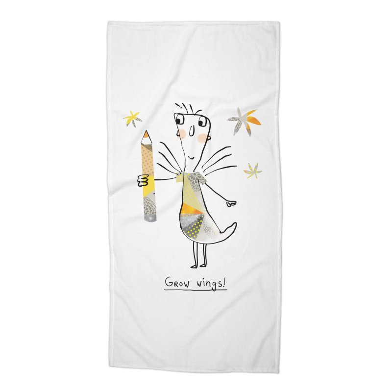 Creative chicken Accessories Beach Towel by Lill Print Store