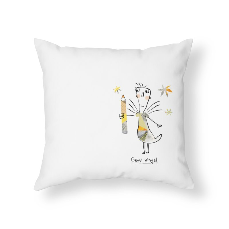 Creative chicken Home Throw Pillow by Lill Print Store