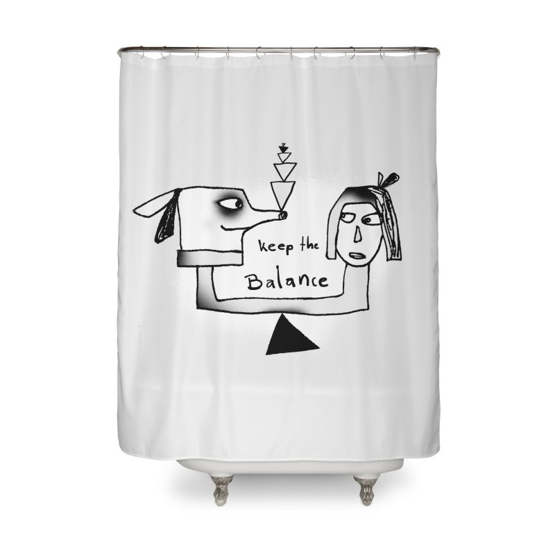 Keep the balance Home Shower Curtain by Lill Print Store