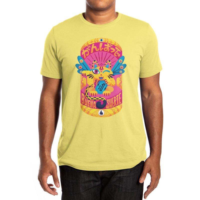 Lucky Vibes Neko Men's T-Shirt by Inkbyte Studios' shop