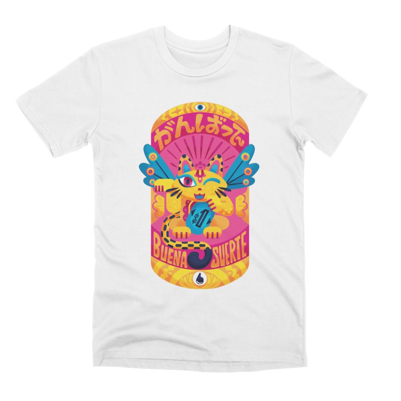 Lucky Vibes Neko Men's T-Shirt by La Tiendita