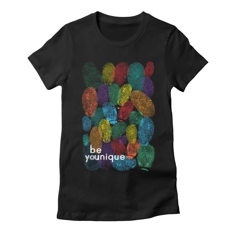be you Women's Fitted T-Shirt by Ink and Graphite's Artist Shop