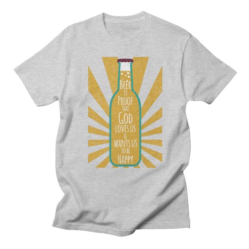 God Loves Us Men's T-Shirt by Ink and Graphite's Artist Shop