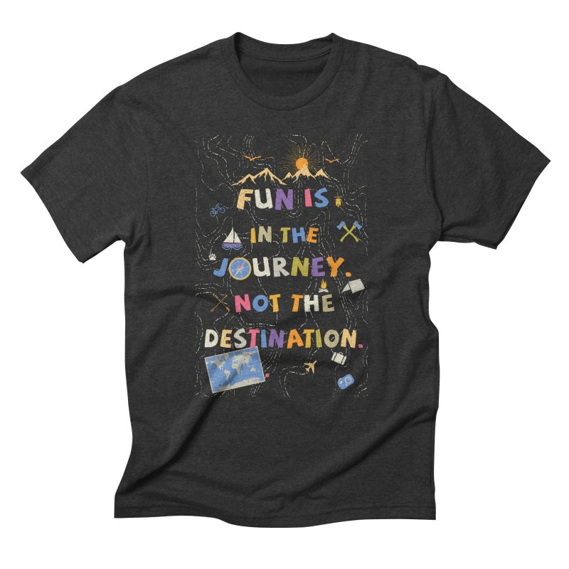 The Journey Men's Triblend T-shirt by Ink and Graphite's Artist Shop