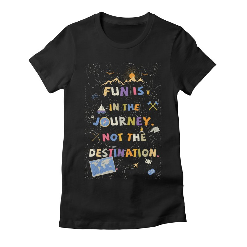 The Journey Women's Fitted T-Shirt by Ink and Graphite's Artist Shop