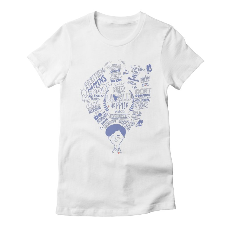 believe Women's Fitted T-Shirt by Ink and Graphite's Artist Shop