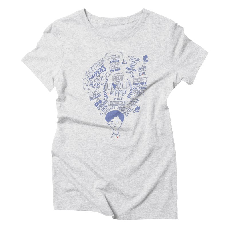 believe Women's Triblend T-shirt by Ink and Graphite's Artist Shop