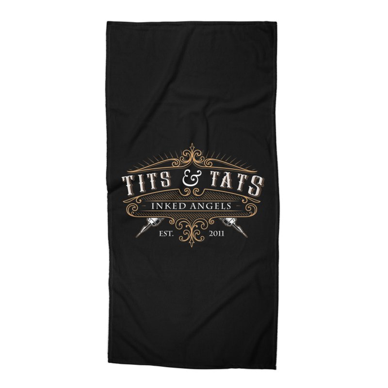 Tits & Tats Since 2011 Accessories Beach Towel by Inked Angels' Store