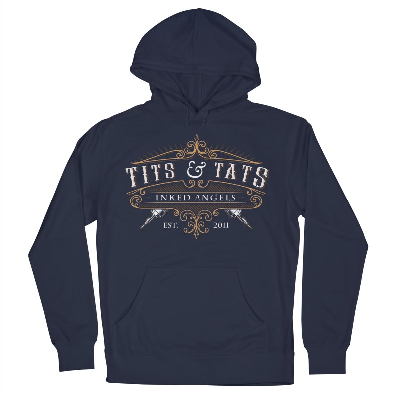 Tits & Tats Since 2011 Men's French Terry Pullover Hoody by Inked Angels' Store