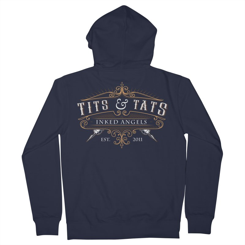 Tits & Tats Since 2011 Men's French Terry Zip-Up Hoody by Inked Angels' Store